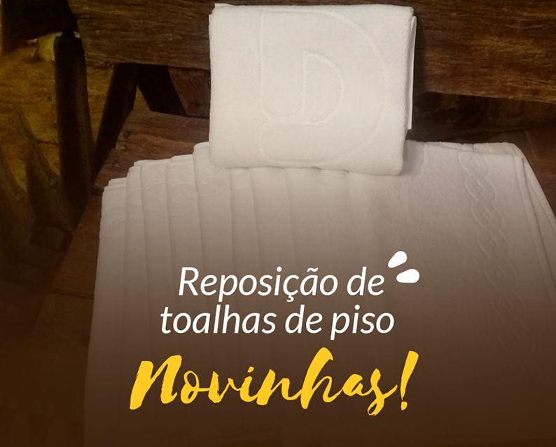 Dallé Hotel - Reposição de toalhas de piso, novinhas!